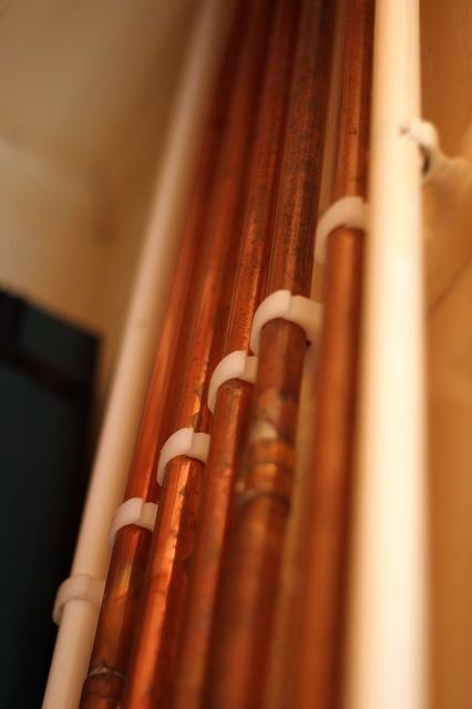Imagem de encanamento de cobre